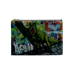 Urban T Rex Cosmetic Bag (medium)  by Valentinaart