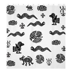 Aztecs Pattern Shower Curtain 66  X 72  (large)  by Valentinaart