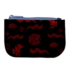 Aztecs Pattern Large Coin Purse by Valentinaart
