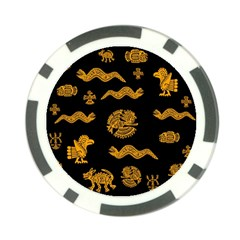 Aztecs Pattern Poker Chip Card Guard (10 Pack)