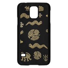 Aztecs Pattern Samsung Galaxy S5 Case (black) by Valentinaart