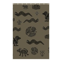Aztecs Pattern Shower Curtain 48  X 72  (small)  by Valentinaart