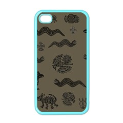 Aztecs Pattern Apple Iphone 4 Case (color) by Valentinaart