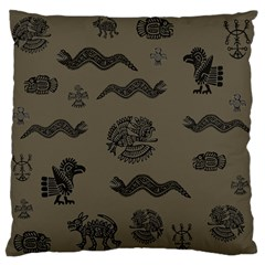 Aztecs Pattern Standard Flano Cushion Case (two Sides)
