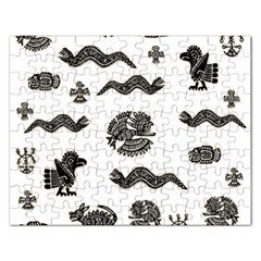 Aztecs Pattern Rectangular Jigsaw Puzzl