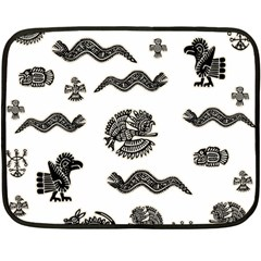 Aztecs Pattern Fleece Blanket (mini)