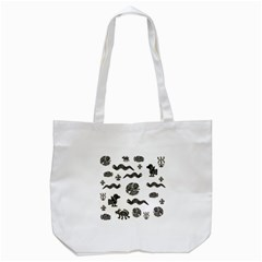 Aztecs Pattern Tote Bag (white) by Valentinaart