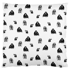 Chimpanzee Large Flano Cushion Case (two Sides)