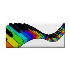 Rainbow Piano  Cosmetic Storage Cases by Valentinaart