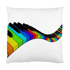 Rainbow Piano  Standard Cushion Case (two Sides) by Valentinaart