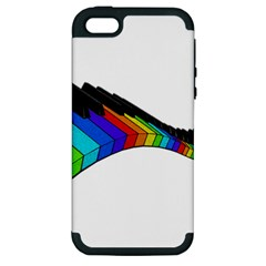 Rainbow Piano  Apple Iphone 5 Hardshell Case (pc+silicone) by Valentinaart