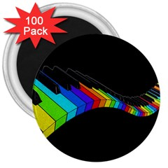 Rainbow Piano  3  Magnets (100 Pack) by Valentinaart