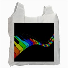Rainbow Piano  Recycle Bag (one Side) by Valentinaart