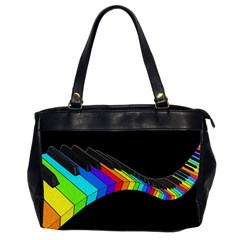 Rainbow Piano  Office Handbags (2 Sides)  by Valentinaart