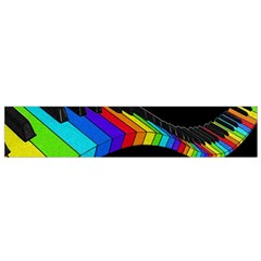 Rainbow Piano  Flano Scarf (small)