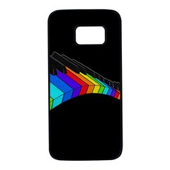Rainbow Piano  Samsung Galaxy S7 Black Seamless Case