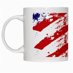 American Flag White Mugs by Valentinaart