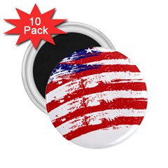 American Flag 2 25  Magnets (10 Pack)  by Valentinaart