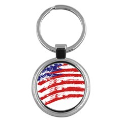 American Flag Key Chains (round)  by Valentinaart