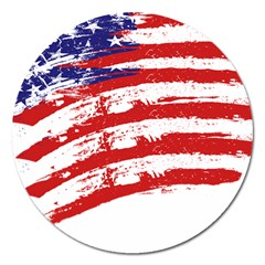 American Flag Magnet 5  (round) by Valentinaart