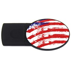 American Flag Usb Flash Drive Oval (2 Gb) by Valentinaart