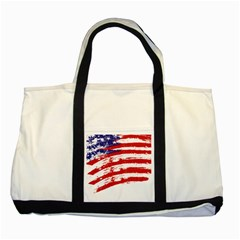 American Flag Two Tone Tote Bag by Valentinaart