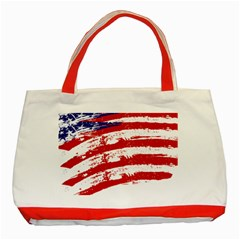 American Flag Classic Tote Bag (red) by Valentinaart