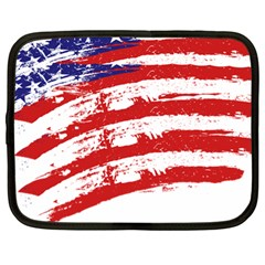American Flag Netbook Case (xl)  by Valentinaart