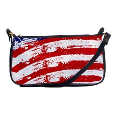 American Flag Shoulder Clutch Bags by Valentinaart