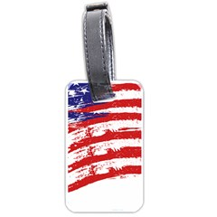 American Flag Luggage Tags (two Sides) by Valentinaart