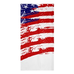 American Flag Shower Curtain 36  X 72  (stall)  by Valentinaart