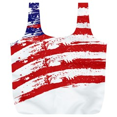 American Flag Full Print Recycle Bags (l)