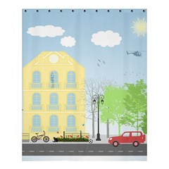 Urban Scene Shower Curtain 60  X 72  (medium)  by linceazul