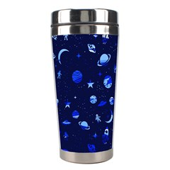 Space Pattern Stainless Steel Travel Tumblers by ValentinaDesign