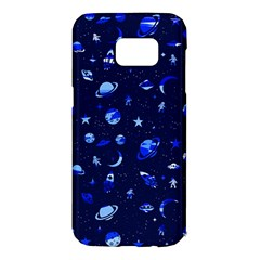 Space Pattern Samsung Galaxy S7 Edge Hardshell Case by ValentinaDesign
