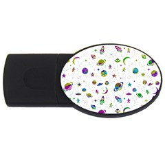 Space Pattern Usb Flash Drive Oval (2 Gb) by ValentinaDesign