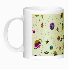 Space Pattern Night Luminous Mugs by ValentinaDesign
