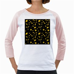 Space Pattern Girly Raglans by ValentinaDesign