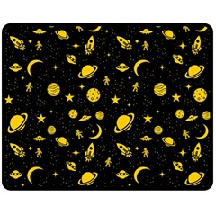 Space Pattern Double Sided Fleece Blanket (medium)  by ValentinaDesign
