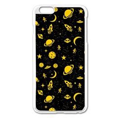 Space Pattern Apple Iphone 6 Plus/6s Plus Enamel White Case by ValentinaDesign
