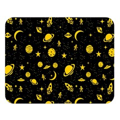 Space Pattern Double Sided Flano Blanket (large)  by ValentinaDesign
