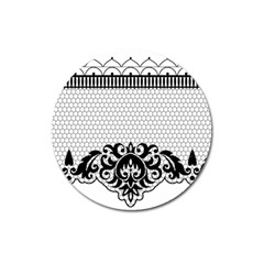 Transparent Lace Decoration Magnet 3  (round) by Nexatart