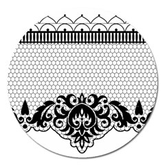 Transparent Lace Decoration Magnet 5  (round) by Nexatart