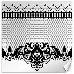 Transparent Lace Decoration Canvas 16  X 16