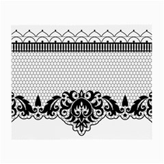 Transparent Lace Decoration Small Glasses Cloth (2 Side) by Nexatart