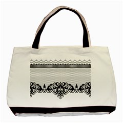 Transparent Lace Decoration Basic Tote Bag (two Sides) by Nexatart