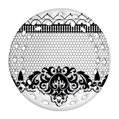 Transparent Lace Decoration Ornament (round Filigree) by Nexatart