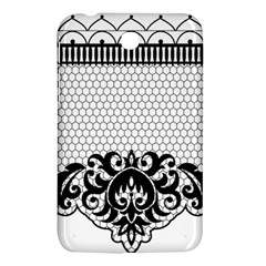Transparent Lace Decoration Samsung Galaxy Tab 3 (7 ) P3200 Hardshell Case  by Nexatart