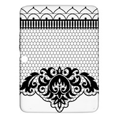 Transparent Lace Decoration Samsung Galaxy Tab 3 (10 1 ) P5200 Hardshell Case  by Nexatart