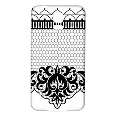 Transparent Lace Decoration Samsung Galaxy S5 Back Case (white) by Nexatart